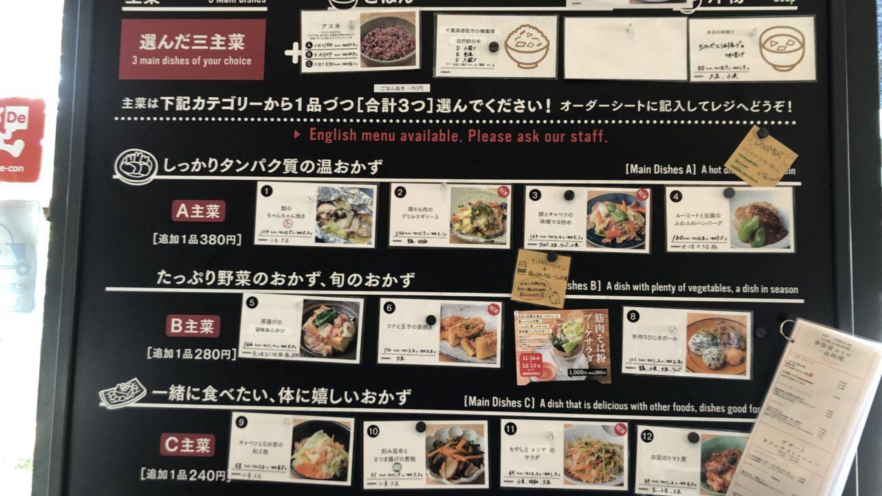 東京アスリート食堂メニュー