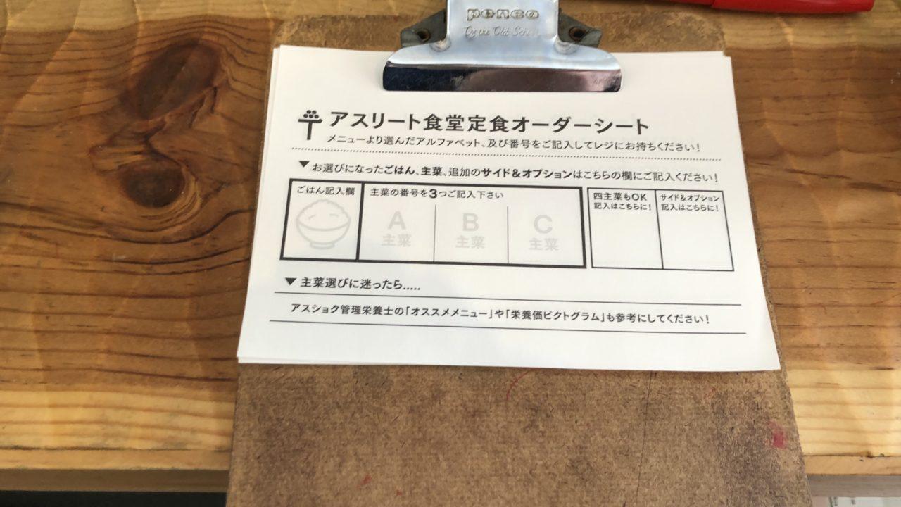 東京アスリート食堂メニュー2